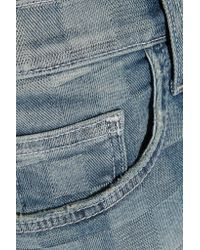 Current/Elliott - Blue The Slouchy Cut-off Checked Denim Shorts - Lyst