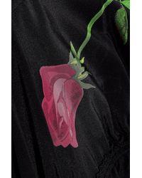3.1 Phillip Lim - Black Paneled Ruched Printed Silk-satin Jacket - Lyst