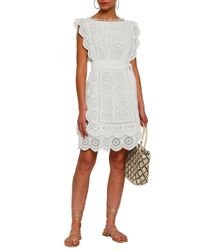 Zimmermann White Broderie Anglaise Cotton Dress Ivory