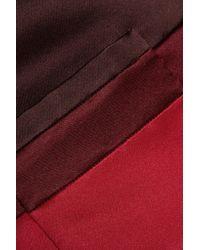 Valentino Red Two-tone Silk-satin Jacket