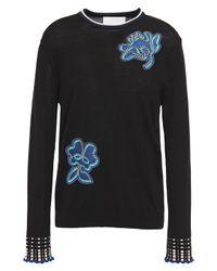 Peter Pilotto Black Fine Wool Sweater