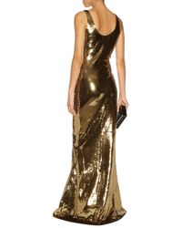 Moschino Metallic Sequined Tulle Gown