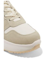 Eytys Gray Jet Shell And Suede Sneakers