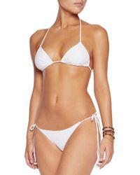 Eberjey White Eva Crochet-knit Low-rise Bikini Briefs Ivory