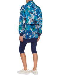 Adidas By Stella McCartney Blue 'running Blossom' Pullover Jacket