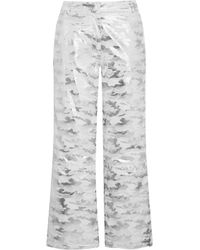 TOPSHOP Liza Jane Metallic Camouflage-print Ski Pants