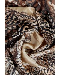 Valentino Natural Frayed Printed Cashmere And Silk-blend Scarf Beige