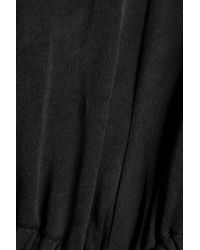 Ellery Black Apocalyptic Cutout Crepe Top