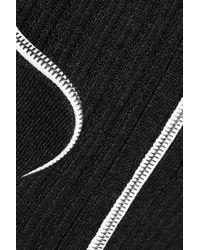 J.W. Anderson Black Ribbed Wool Dress