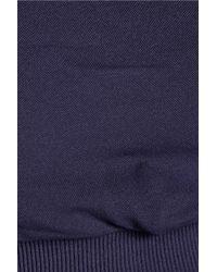 Yummie By Heather Thomson Blue Gabby Cropped Stretch-knit Leggings