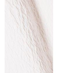 Roland Mouret Arreton Cloqué Pencil Skirt Off-white