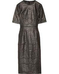 Rebecca Vallance Multicolor Metallic Coated Cotton-blend Lace Midi Dress