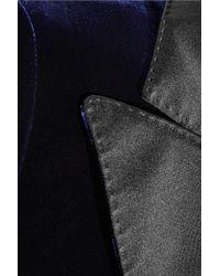 Tom Ford Blue Satin-trimmed Velvet Blazer