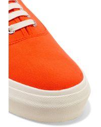 Eytys Orange Mother Woven Platform Sneakers