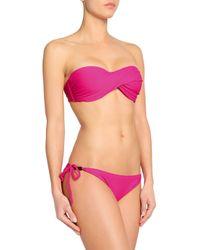 Heidi Klein Pink Embellished Low-rise Bikini Briefs