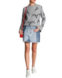 Zoe Karssen Woman Appliquéd Cotton-blend Terry Sweatshirt Gray