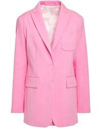 Joseph Pink Cotton-blend Sateen Blazer Bubblegum