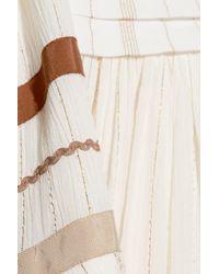 Rachel Zoe Multicolor Annabel Grosgrain-trimmed Metallic Gauze Maxi Dress