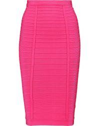 Hervé Léger - Multicolor Bandage Pencil Skirt - Lyst