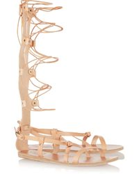 Ancient Greek Sandals - Multicolor Sofia High Lace-up Leather Sandals - Lyst