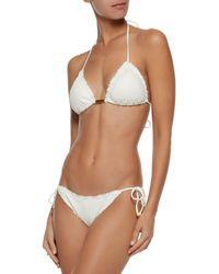 ViX - White Nobu Laser-cut Triangle Bikini Top - Lyst