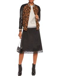 COACH Multicolor Wild Beast Cloqué And Leather Jacket