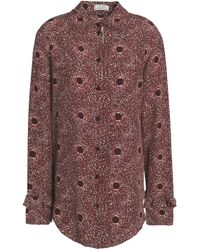 Nina Ricci Multicolor Ruffle-trimmed Printed Silk Shirt
