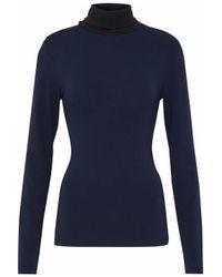 Victoria Beckham Blue Fine Knit