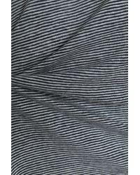 Petit Bateau Striped Linen Top Midnight Blue