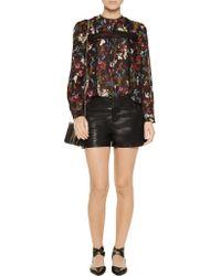 Alice + Olivia - Black Cady Leather Shorts - Lyst