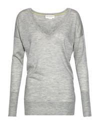 Amanda Wakeley Hepburn Cashmere Sweater Light Gray
