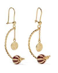 Carolina Bucci - Metallic Carnevale 18-karat Gold And Enamel Earrings - Lyst