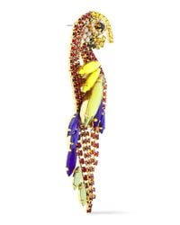 Elizabeth Cole Metallic 24-karat Gold-plated Swarovski Crystal Earrings Multicolor