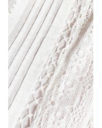 Joie White Orla Crochet-trimmed Broderie Anglaise Cotton Top