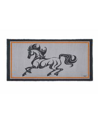 Rubinacci Gray Grey Horse Cashmere Pashmina for men