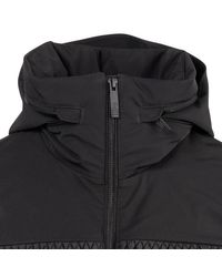 Fusalp Black Polyamid Zipped Diamond-quilted Coat for men