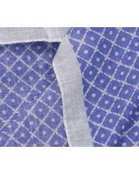 Anderson & Sheppard - Indigo Blue Cotton Tile Neckerchief for Men - Lyst