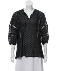 Ohne Titel - Black Long Sleeve Embroidered Top - Lyst