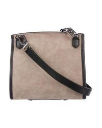 Alexander Wang - Metallic Suede Marion Prisma Crossbody Bag Silver - Lyst
