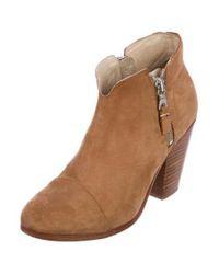 Rag & Bone - Brown Margot Suede Ankle Boots - Lyst