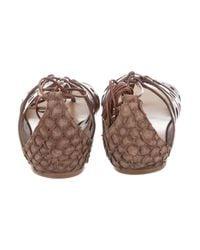 Proenza Schouler | Brown Leather Gladiator Sandals | Lyst