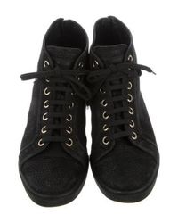 Louis Vuitton - Black Logo High-top Sneakers - Lyst
