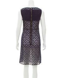 Louis Vuitton - Blue Guipure Lace Colorblock Dress Navy - Lyst