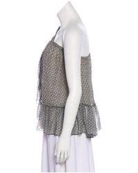 Isabel Marant - Black Printd Sleeveless Top - Lyst