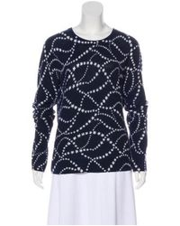 Equipment - Blue Printed Cashmere Sweater - Lyst