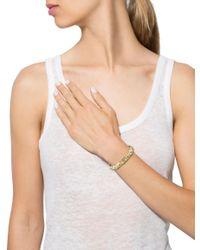BVLGARI - Metallic Two-tone Alveare Bracelet Yellow - Lyst