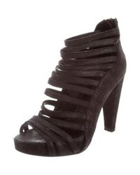 Loeffler Randall - Black Multistrap Platform Sandals - Lyst