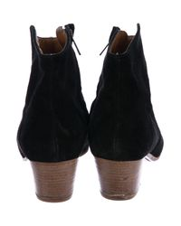 Étoile Isabel Marant - Black Dicker Suede Ankle Boots - Lyst