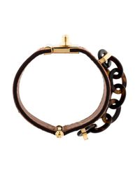 Louis Vuitton - Metallic Lock Me Nomade Cuff Bracelet Gold - Lyst