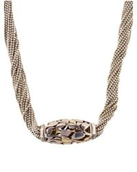 Cartier - Metallic Two-tone Leaf Motif Torsade Necklace Yellow - Lyst